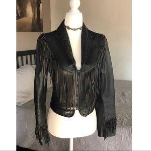 Vintage Black Leather Jacket 🐃